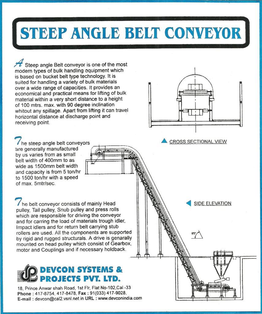 steep angle conveyor manufactures